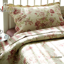 2014 autumn 100% cotton quilting bed cover quilting by three piece set 100% cotton bedding queen quilt 2 Color(China (Mainland))