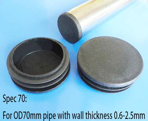 Mm plastic tube plug cap inch blanking