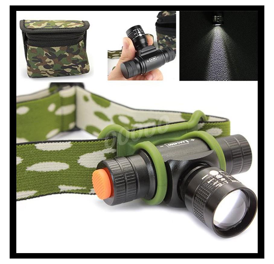 mine Adjustable Focus Zoom 3 Modes ch10 LED headlamp Cree XM L2 LED Stepless Dimming Headlight
