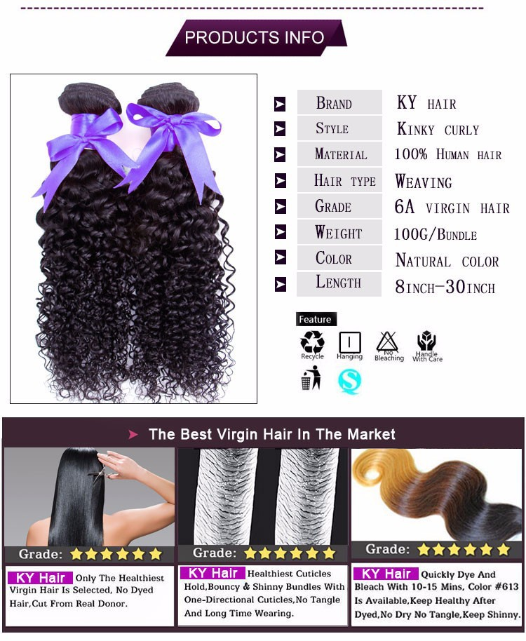 6A Rosa Hair Products 3 pcs/lot Mongolian Kinky Curly Hair 100% Human Hair Extensions Mongolian Afro Kinky Curly Virgin Hair