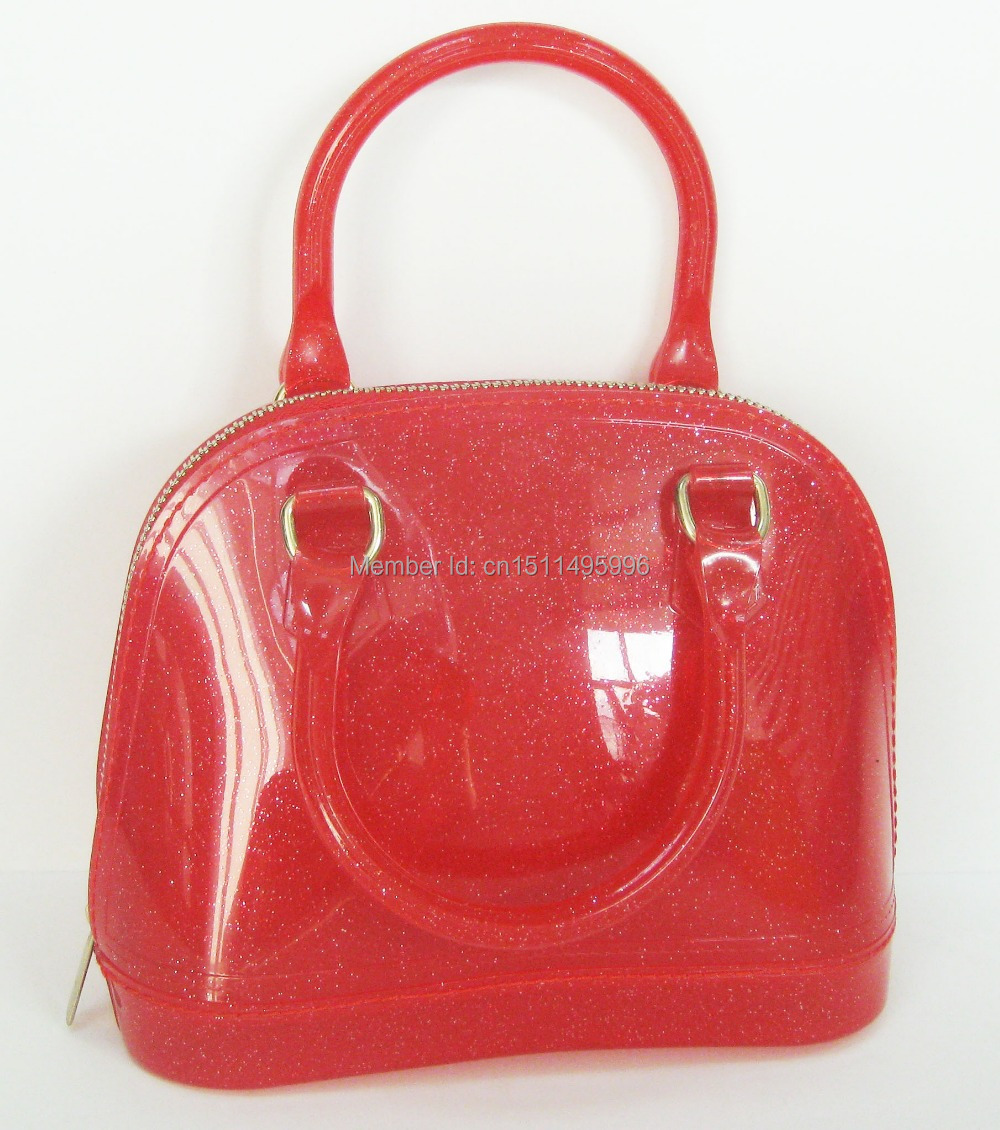Free shipping!2015 New jelly shell bag transparent beach bag ice cream portable fashion l handbags Boutique totes candy bag(China (Mainland))