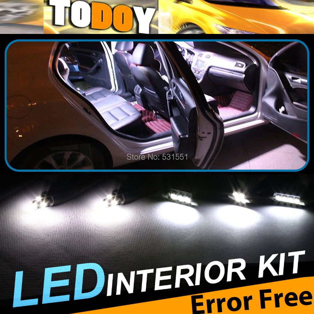 1CANBUS ERROR FREE White car Interior Package LED bulb Kit A5/S5 2008-2013 Car Styling Accessories LED&201 - TODOY store