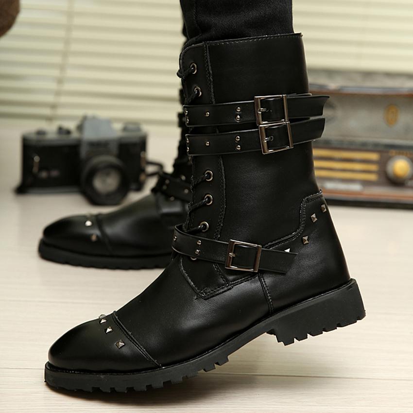 odema 2016 winter martin boots fashion rivets
