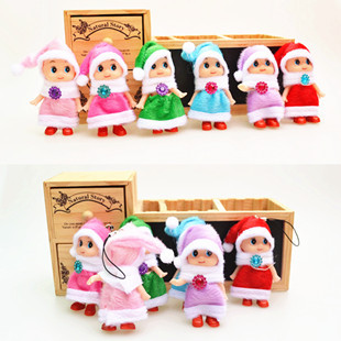 Confused doll pendant christmas doll christmas gift mobile phone pendant plush toy gift(China (Mainland))