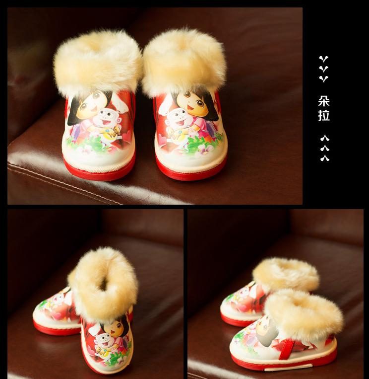 Dora dora children shoes female child cartoon sneaker with light flasher children shoes breathable(China (Mainland))