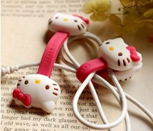 2X Hello Kitty Kawaii Earphone Cable Manage Winder   /Cable Holder Organizer for MP3 MP4 Phone Accessories