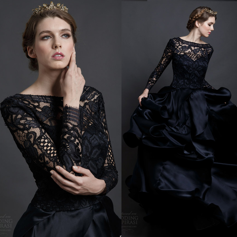 Gothic-Hippie-Vintage-Lace-Wedding-Dresses-2015-Long-Sleeve-Black ...