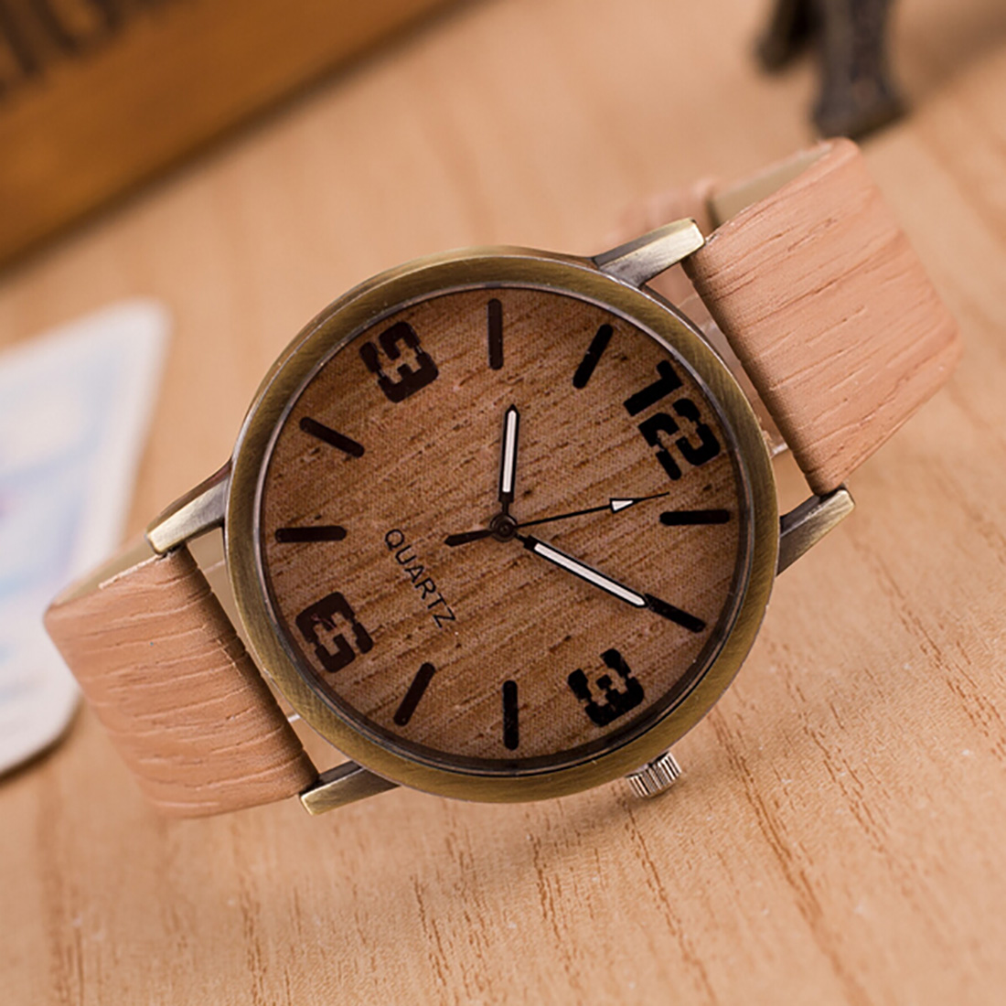 Simulation Wooden Quartz Men Watches Casual Wooden Color Leather Strap Watch Wood Male Wristwatch Relojes Relogio Masculino saat<br><br>Aliexpress