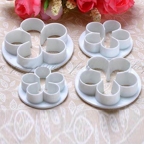 Гаджет  4Pcs/Set Rose Flower Fondant Cake Cookie Cutters Decorating Sugarcraft Mould Diy Tools Bakeware Tools None Дом и Сад
