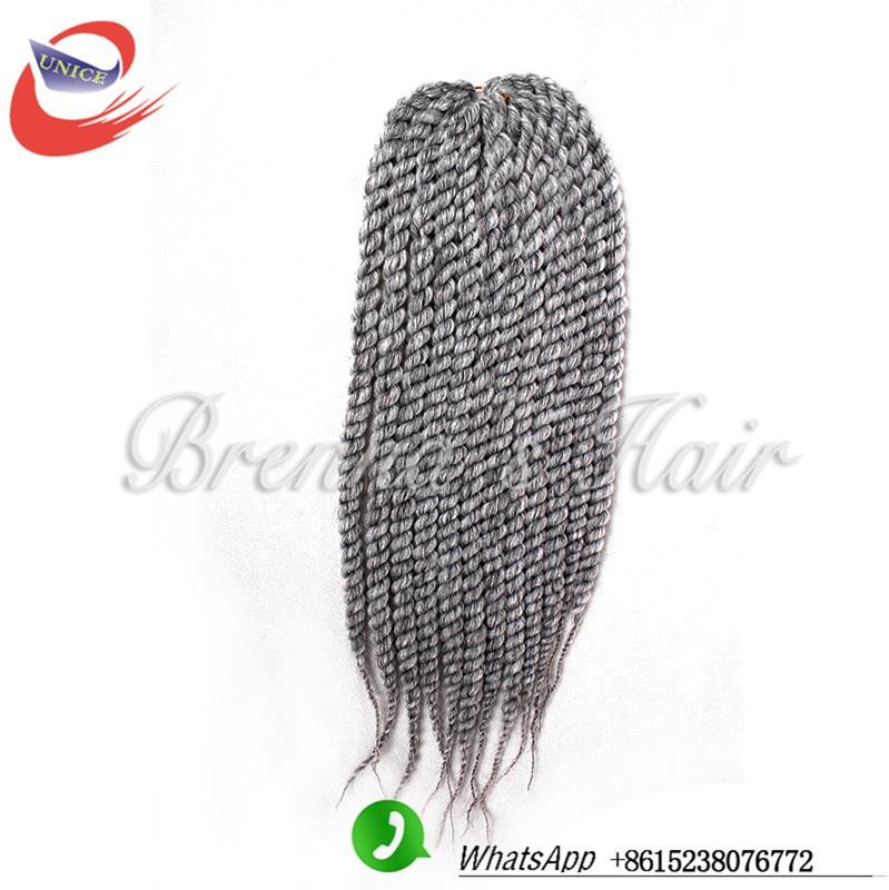 Human beautiful hair Hot Selling Havana Mambo Twist Braids 2x Senegalese Brown Black Blue Purple ombre wine Red crochet