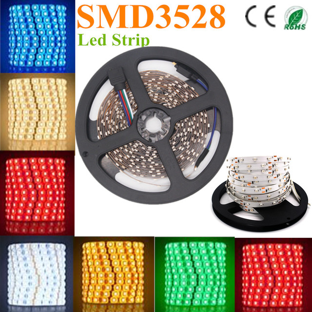 500m/lot 3528 LED flexible strip IP54 3528LED 60 pcs/M Non-waterproof input 12V 4W/Meter bright/factroy selling led lighting