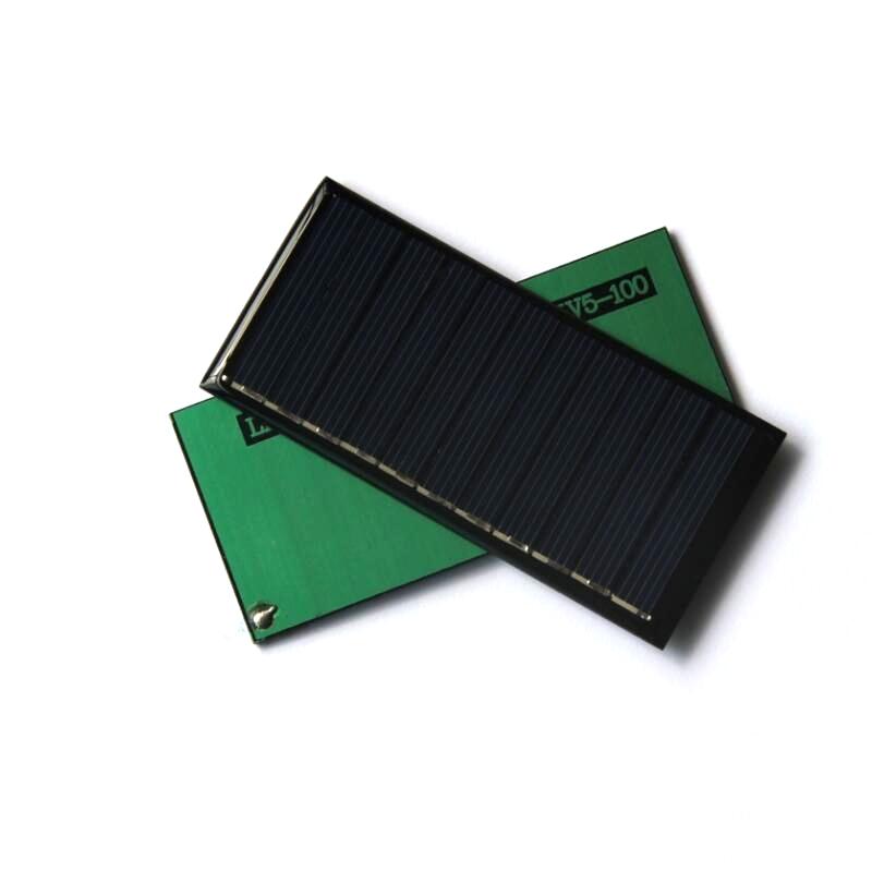 HOT 0.55W 5.5V 100MA Mini Solar Cell Solar Module Polycrystalline Solar Panel Diy Charger 95*44*3MM 5pcs/lot Free