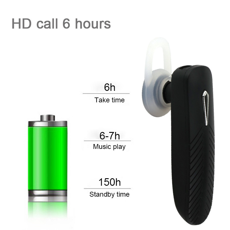 Portable Wireless Bluetooth Earphone Handsfree Stereo Music Headset Headphone with Microphone Universal for iPhone Samsung Sony