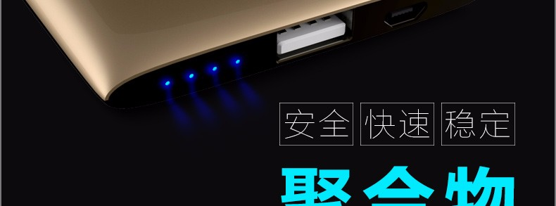 Genai J10 10000mAh Power Bank USB External Battery Charger Portable Mobile Power Bank for iPhone iPad for Android Phones