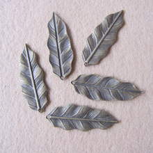 15pcs 36x12mm Antique Bronze Plated Mini Holly Leaves Charms Pendant For Jewelry DIY  P43b(China (Mainland))