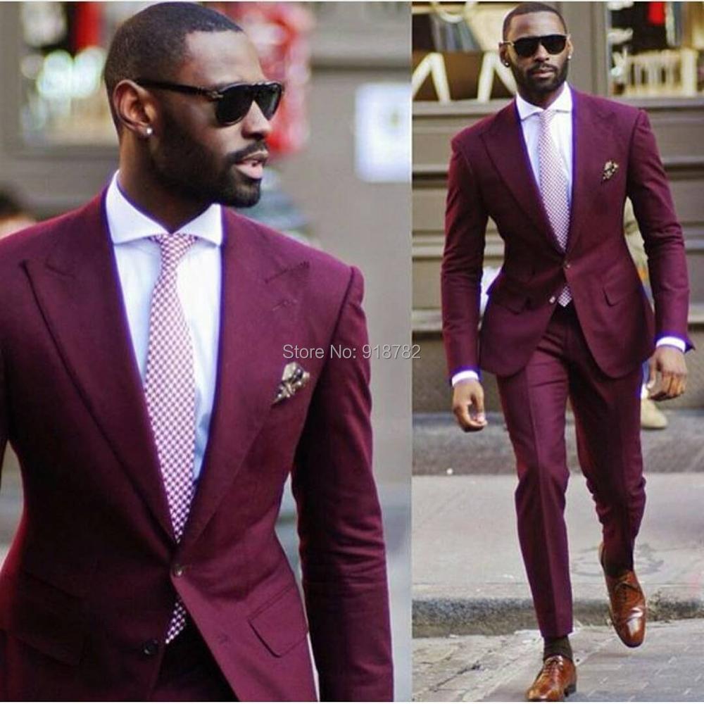 2018 Mens Wedding Suits 2017 New Arrival Design Purple Men Suits ...