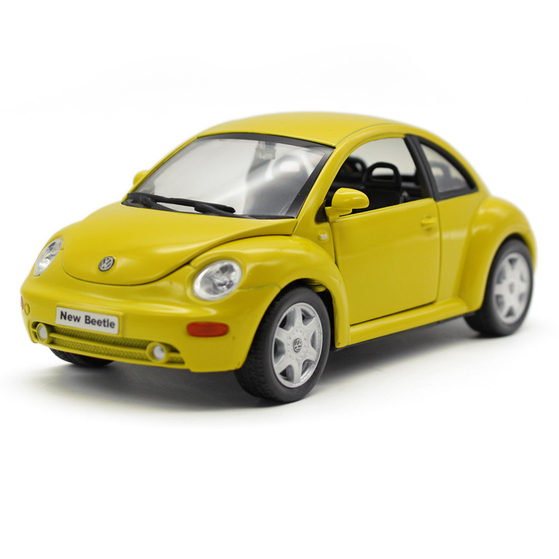 Free Shipping Wiley/welly1:24 Beetle Car Model children's holiday toys red yellow collection kids gifts hot sale high simulation(China (Mainland))