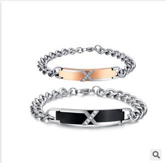 2015 Creative couple titanium steel bracelet CB-001  -  EEL fashion jewelry store store