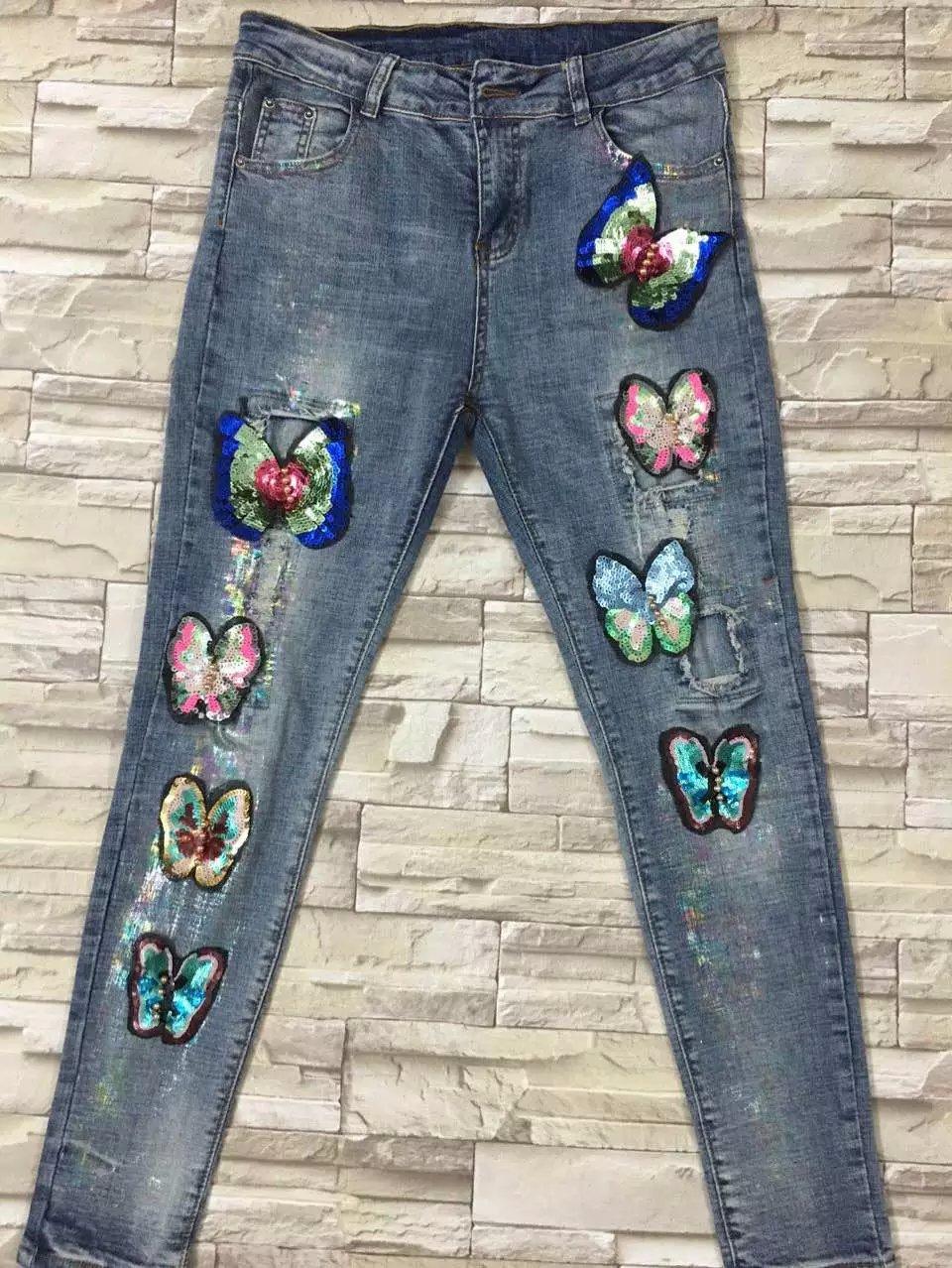Скидки на 2016 блесток джинсы женщина рваные джинсы для женщин джинсы vaqueros mujer жан femme feminino