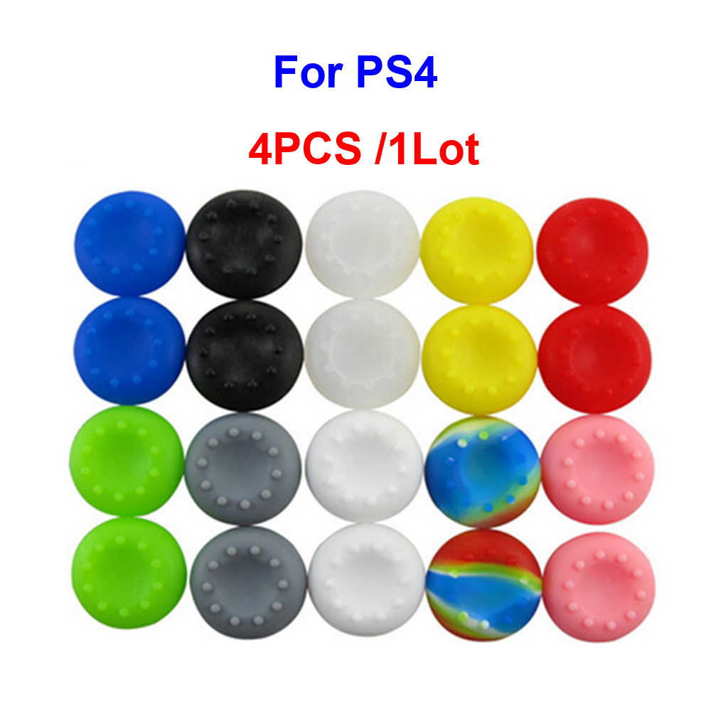 1Lot/Rubber Silicone Joystick Grips Thumbstick Thumb Sticker Cover Case Skin Sony PlayStation 4 PS4 Controller - Mypleasure Trading Limited store