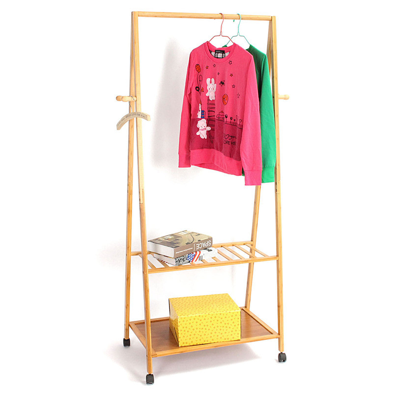 Different quality coatrack ground simple solid wooden for Furniture to hang clothes