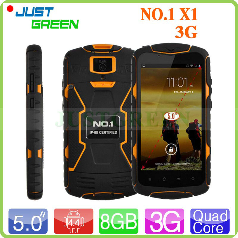 "5"" 1280*720 NO.1 X1 Android 4.4 Waterproof Mobile Phone MTK6582 Quad Core 1.3GHz 1GB RAM 8GB ROM 5MP+13MP Camera Dual SIM OTG(China (Mainland))"