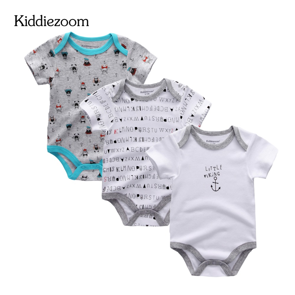 3PCS LOT Newborn Baby rompers Baby Boy Girl Clothes Short