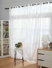 Fil rideau solide blanc fenêtre tulle Translucidus rideaux moderne stores décoratifs paravent Voile rideau(China (Mainland))