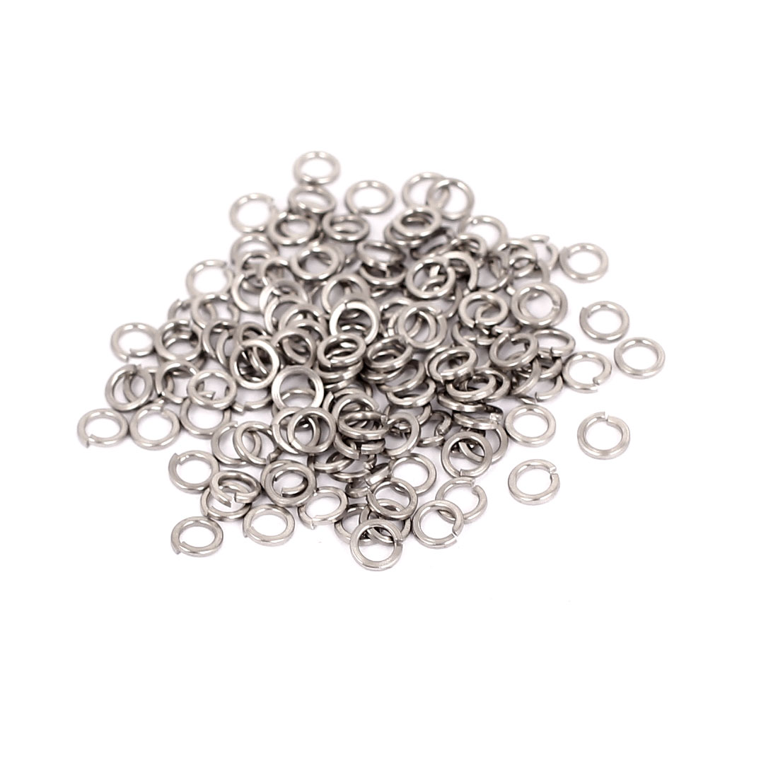 100 Pcs/lot ID 2.5mm OD 4mm T 0.6mm 304 Stainless Steel Split Lock Spring Washers Screw Spacer Pad(China (Mainland))