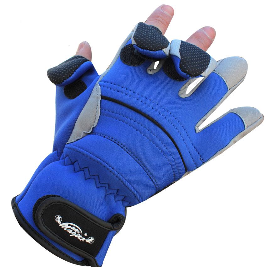 Buy 1pair waterproof anti slip thermal for Fingerless fishing gloves
