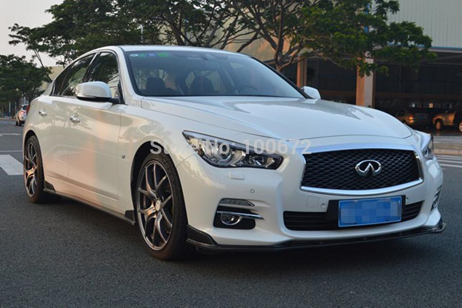 q50 carbon fiber front body kit bumper lip spoiler for infiniti fit q50 low configuration 2014up. Black Bedroom Furniture Sets. Home Design Ideas