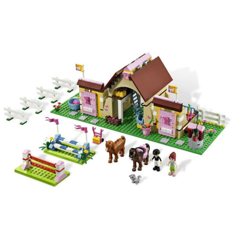 New Bela Friends 10163 Heartlake Stables Girls Mia's Farm Building Blocks 400pcs/set Bricks toys Compatible with gift(China (Mainland))