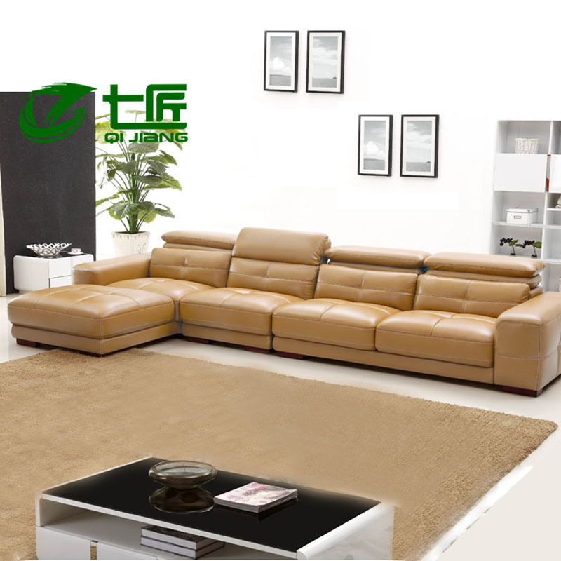 Combination of high end modern leather sofa leisure sofa l for Minimalist sofa