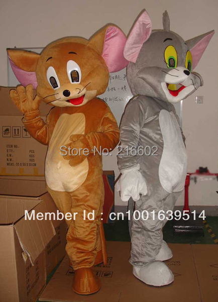 Jerry Mouse&Tom Cat costume/Cartoon Costumes/halloween/Mouse&Tom Cosplay/Christmas party mascot - trade factory store