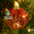 Hot sale 3pcs the latest Christmas hanging  Decoration red white steel wire balls