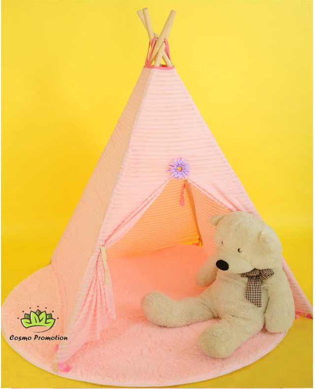 Free Shipping Indian Teepee Kids Children Wigwam Teepee Indian Game Room Tent Garden Cone Outdoor Playhouse Ball Party(China (Mainland))