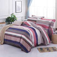 Solstice Home Textile Sleek minimalist luxury Plaid thickened bedsheets Quilt cover Pillowcase Bedding 3/4pcs(China)