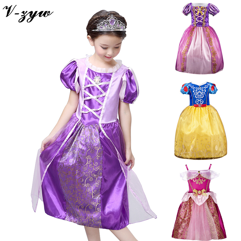 Girl princess dress gown elza carnival costumes for girls child deguisement new year dress for girls baby party <font><b>frocks</b></font> infant