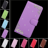 Palace Flower Tower Design Diamond PU Leather Cover For Asus Zenfone 3 Laser ZC551KL Case,Flip Wallet Protector Phone Bags Capa