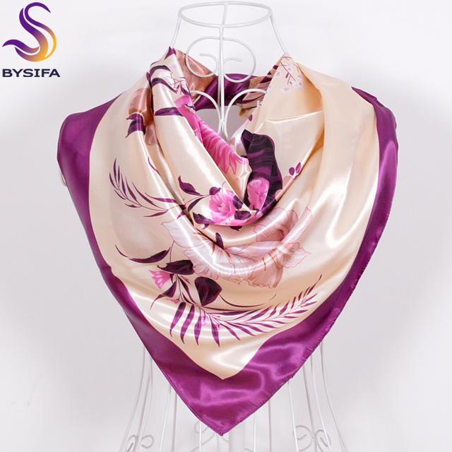 Green Silk Scarf New Arrival Brand Design Satin Big Square Scarf Printed,Women Silk Scarf,China Style Handkerchief 90*90cm