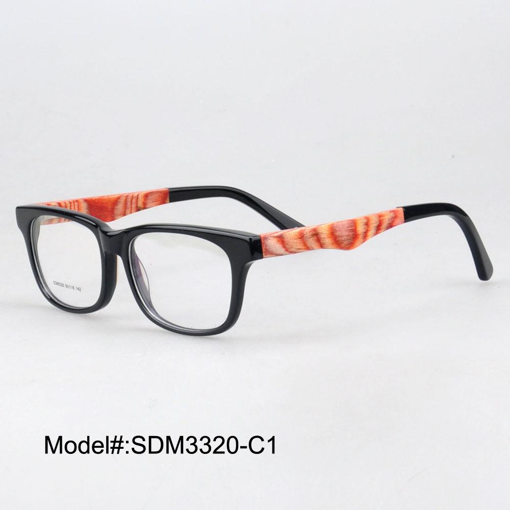 Eyeglass Frames Unisex : SDM3320 Unisex hand made acetate wood temple eyeglasses ...