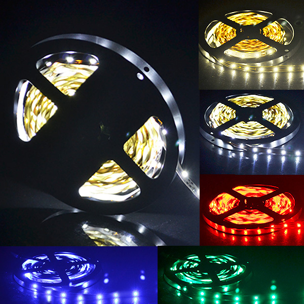 LED strip Light Non-waterproof SMD3528 DC12V flexible light 60LED/m 5m 300LED,Cool White,White warm,Blue,Green,Red,Yellow(China (Mainland))