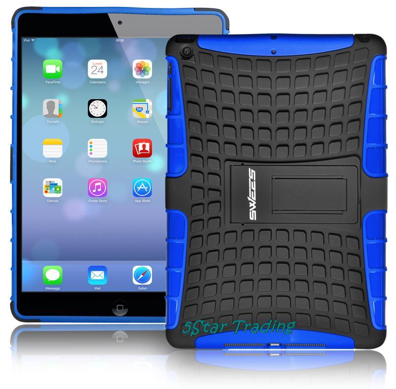 Противоударный гибридный тяжелых стенд планшет чехол твердый переплет для iPad Apple , мини 1 / 2 / 3 4 iPad Air 5 с сетчатки дисплей