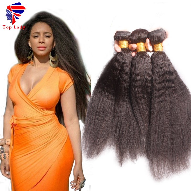 7A Virgin Kinky Straight Hair,Coarse Yaki Virgin Hair Bundles,Virgin Brazilian Kinky Straight Hair Weave Bundles