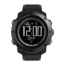 BORDA do Tempo Do Mundo Esportes Homens Relógios Do Exército DO NORTE 50 m Relógio Digital de Funcionamento da Natação À Prova D' Água Relógio de Mergulho Relógio de Pulso Montre Homme(China)