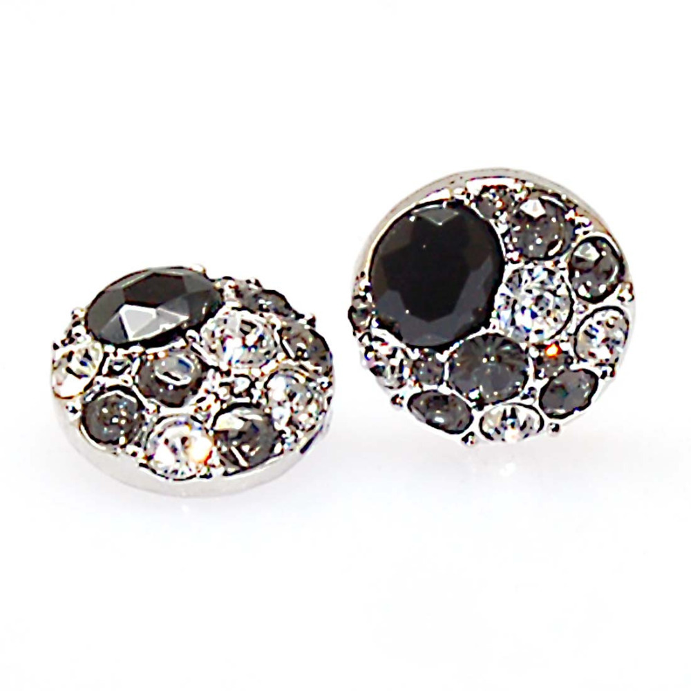 antiqued pewter snap button charms crystal DIY bracelets jewelry,DIY bracelet/rings,GINGERSNAPS,rhodium plated - Miracle beads store