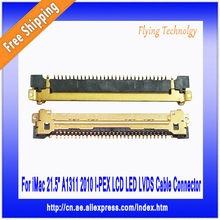 Wholesale 50pcs Brand New 0.5mm-30pin LCD LED LVDS Cable Connector, For imac 21.5″ A1311 2010, Free shipping