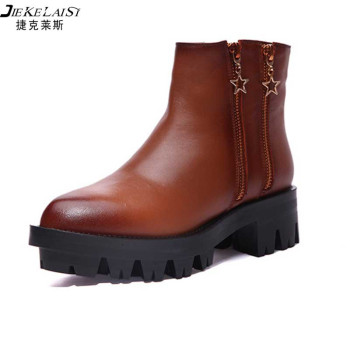 High Quality Women Fashion Boots 2015 New Winter Women Genuine Leather Brown Winter Boots Women Shoes<br><br>Aliexpress