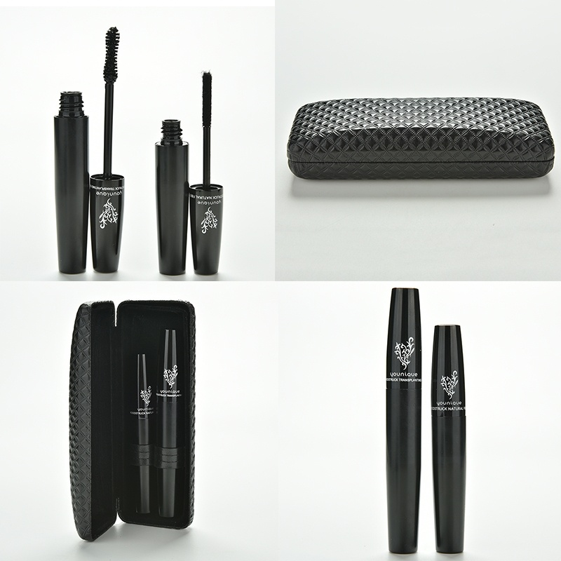 NO Box 1set =2pcs 3D Fiber younique Lashes Mascara Set makeup volumizing eyelash lengthening Mascara brand waterproof cosmetic