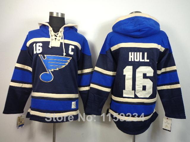 Top Quality NHL Hoodie Blues s Brett Hull 16 Winter Hockey Hoodie Ice Hockey Hoodies Black Sportswear Cheap(China (Mainland))